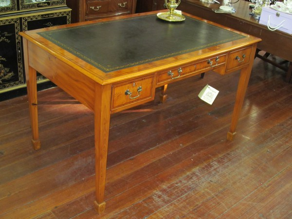 English Bench Hepplewhite Style Writing Desk - George