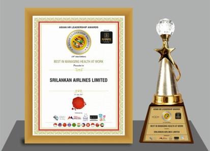 "SriLankan Airlines wins ""Best in managing health at work"" at the Asian  Leadership Awards 2021 - Adaderana Biz English   Sri Lanka Business News"