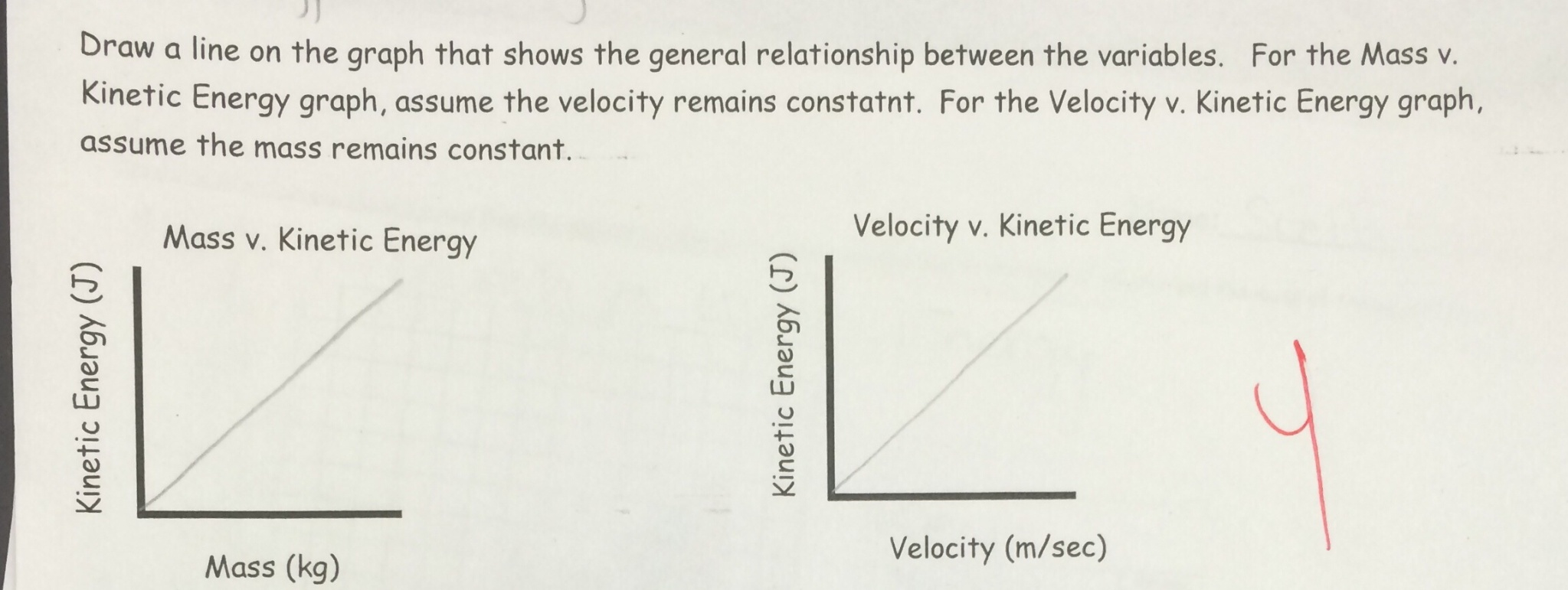 Kinetic And Potential Energy Relationships Worksheet