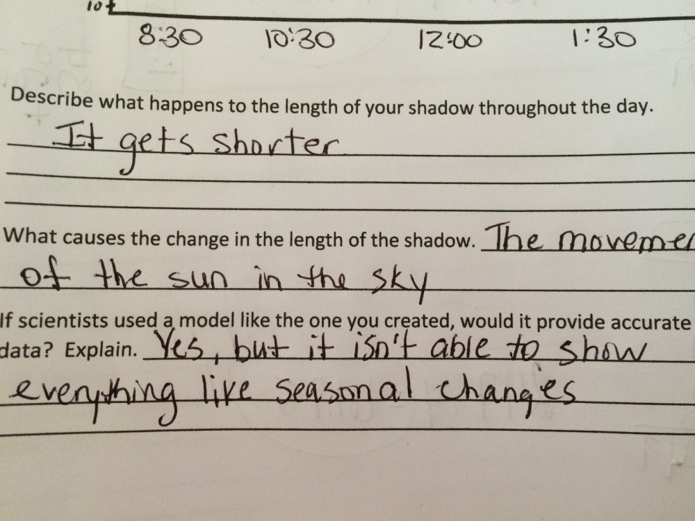 medium resolution of Fifth grade Lesson Why Does my Shadow Change? Day 3