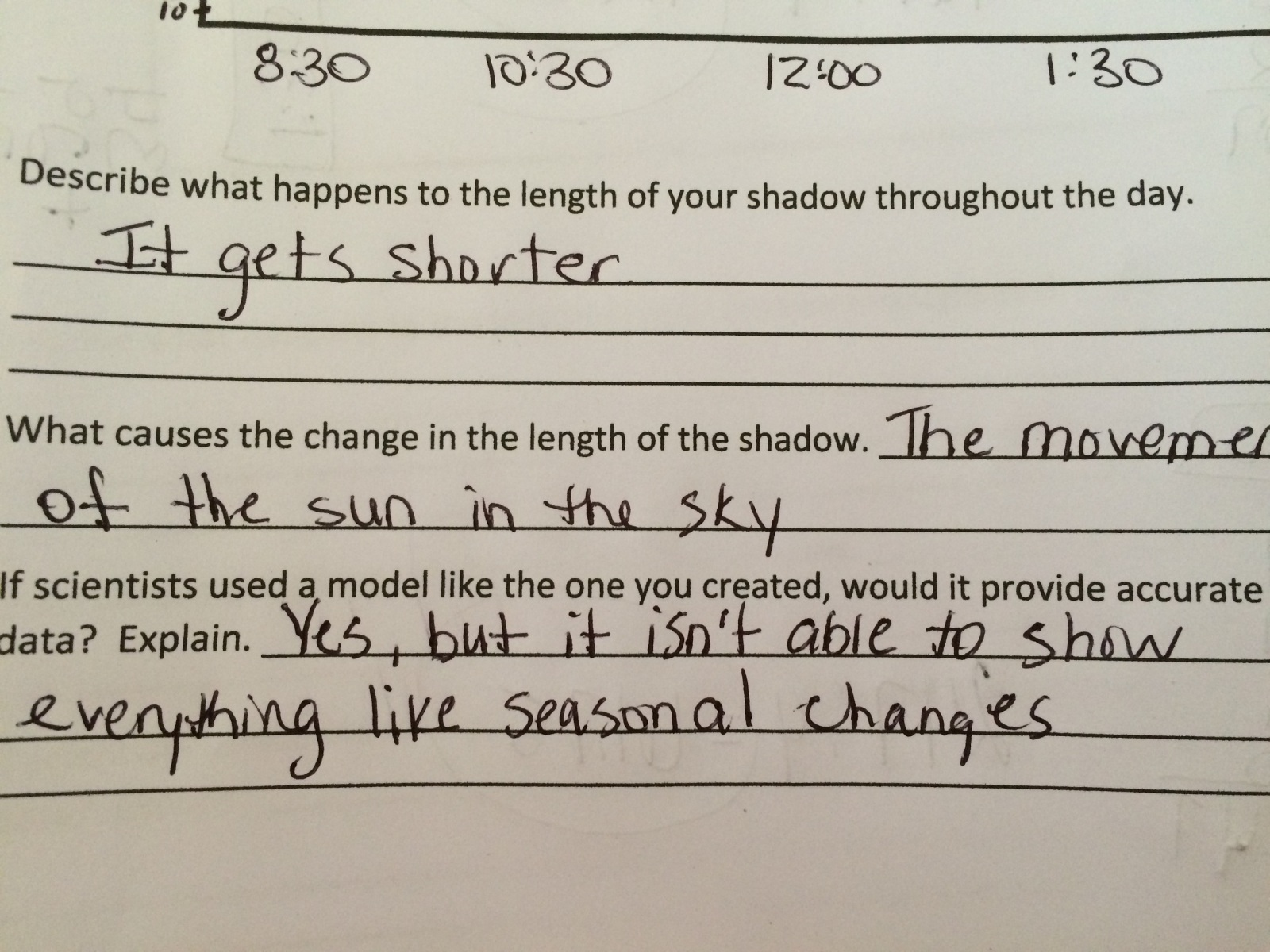 hight resolution of Fifth grade Lesson Why Does my Shadow Change? Day 3