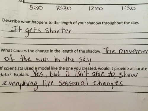 small resolution of Fifth grade Lesson Why Does my Shadow Change? Day 3