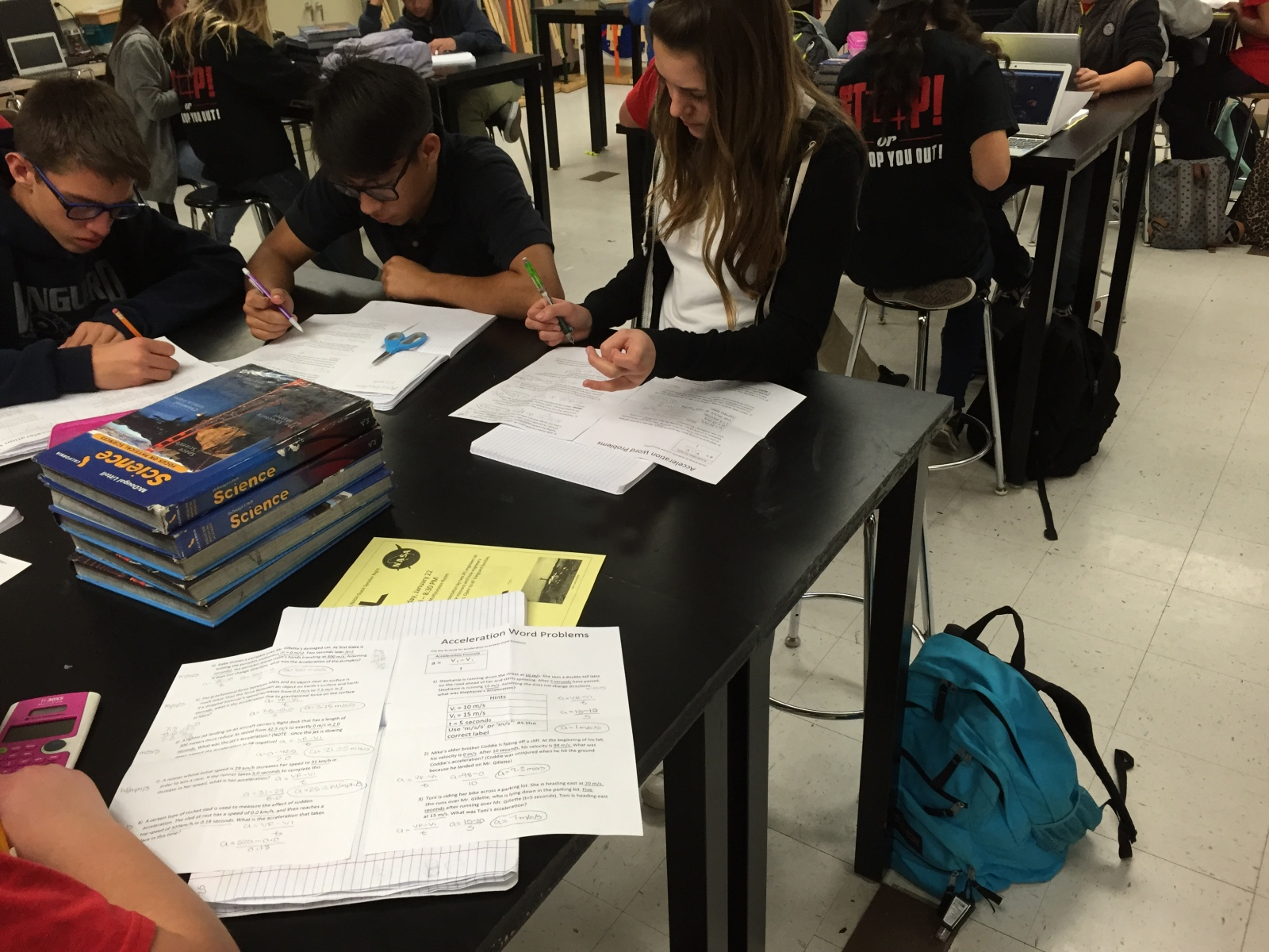 Eighth Grade Lesson Calculating Acceleration Practice