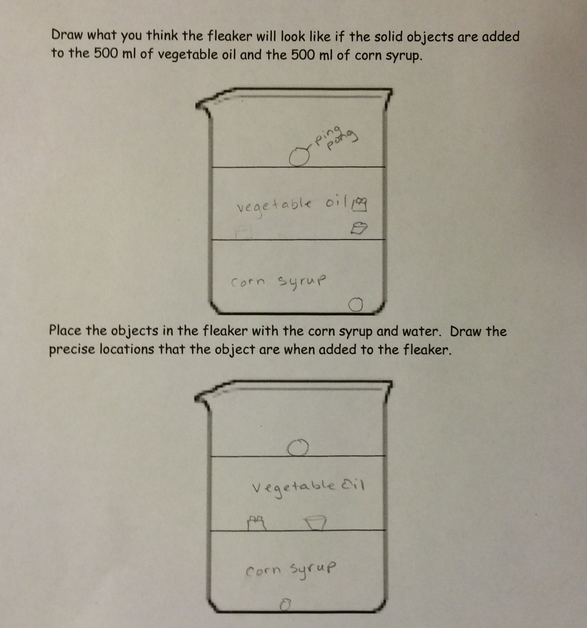Lesson Density Column Lab