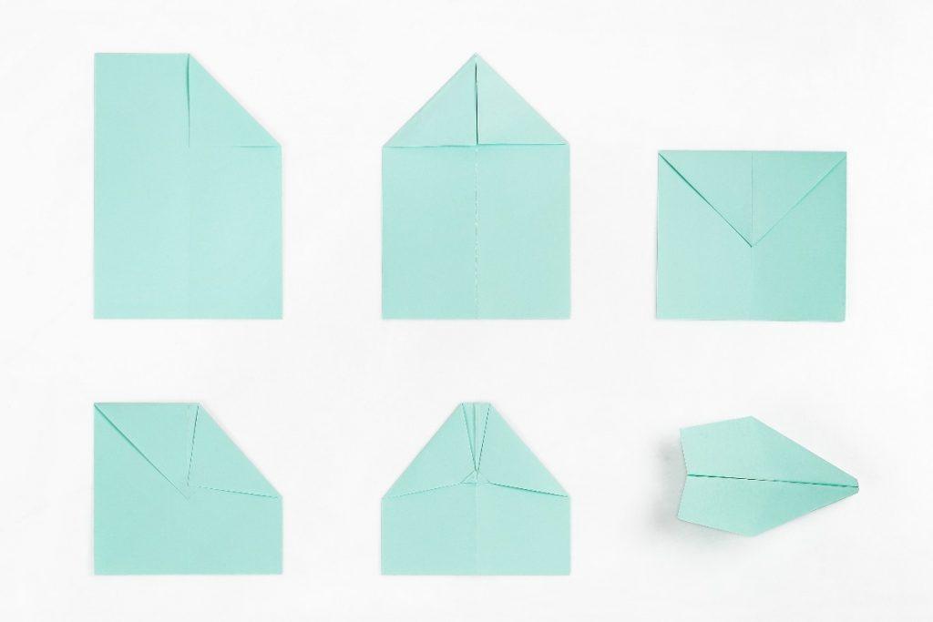 como fazer aviao de papel