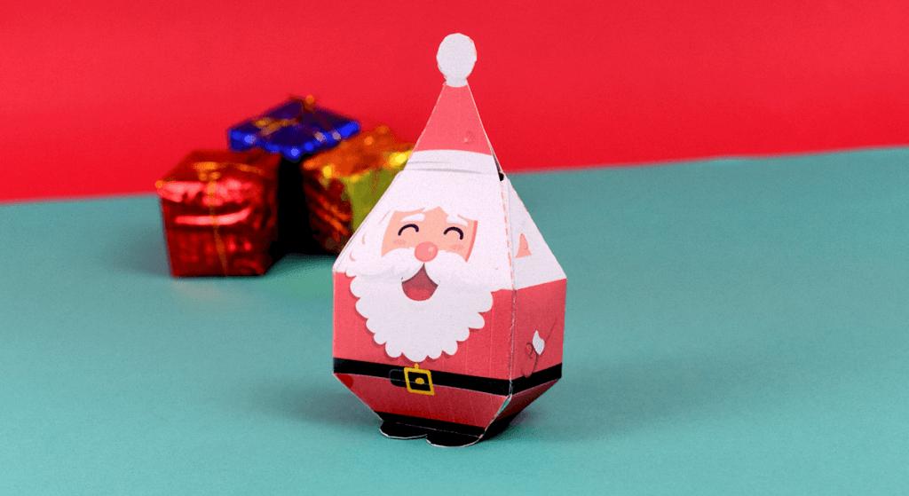 atividade de natal papai noel paper toy
