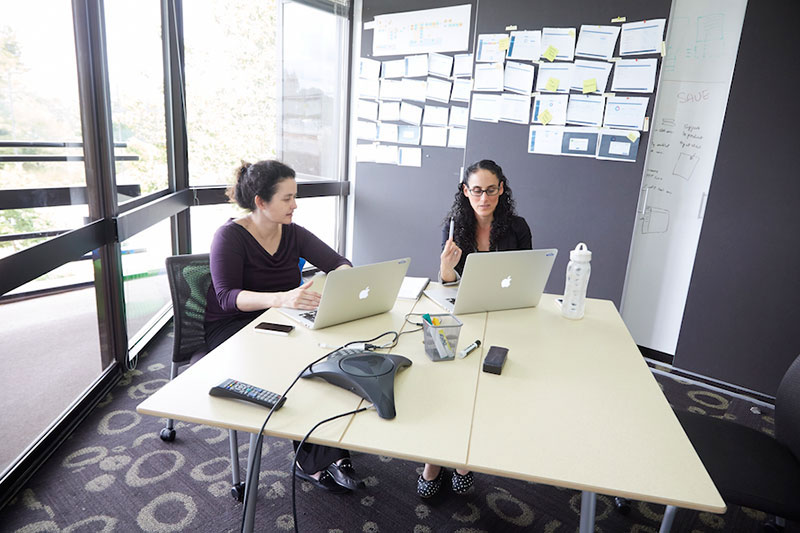 Designers sitting together