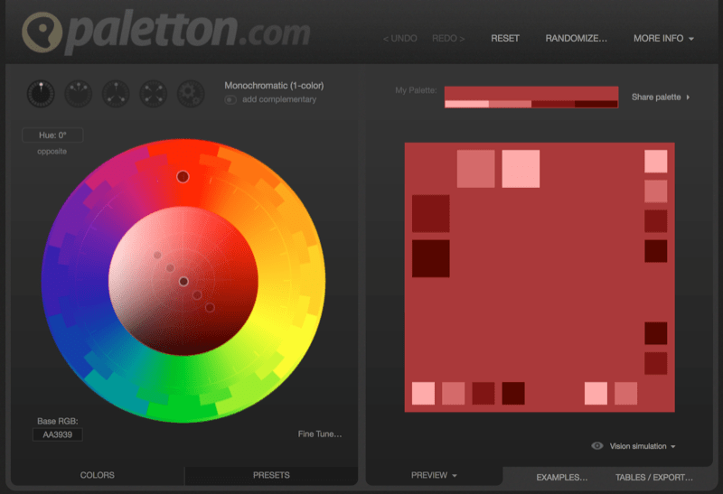 design color palette