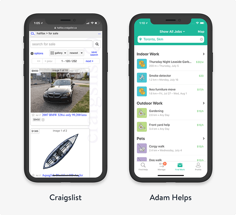 UX design research mobile app