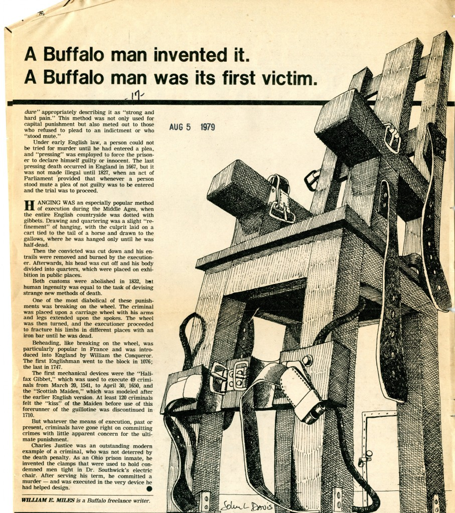 electric chair was invented by party chairs for sale in los angeles aug 6 1890 buffalo man is first to be executed click on the images below view larger versions and continue reading