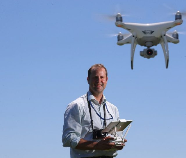 Derek Gee Operates The Buffalo News Drone At Conway Park In Buffalo It Allows Us