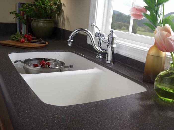 corian kitchen sinks grey island 850 sink view 4