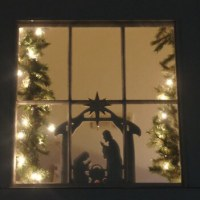 Nativity Scene Window/Wall Decoration