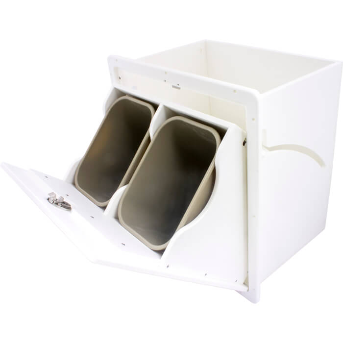 Dual Garbage Can Tilt Out