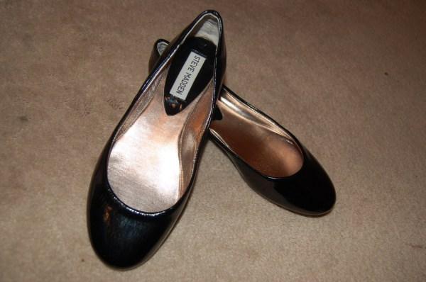 Steve Madden Heaven Ballet Flats Black Patent Leather 6m