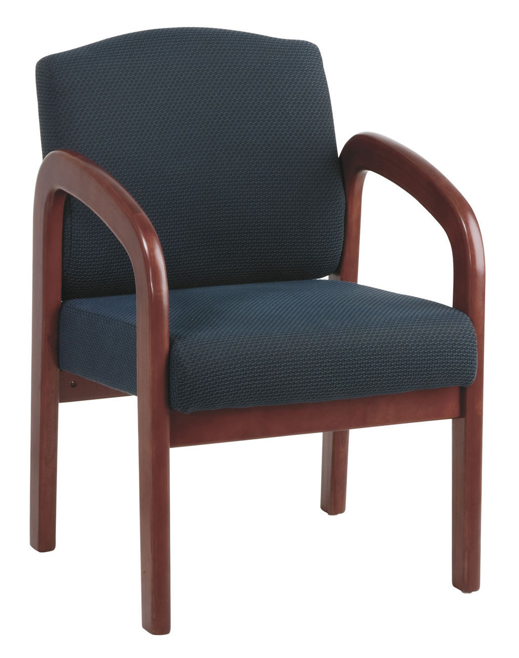 waiting room chairs for sale antique ladder back cherry finish wood and fabric visitor conference seating