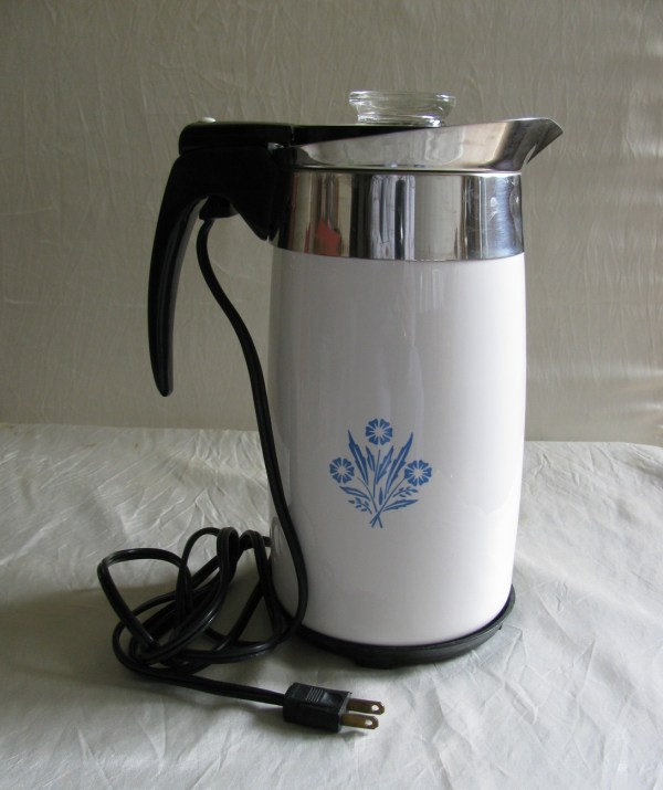 Cornflower Blue Corning Ware Electric Coffee Pot