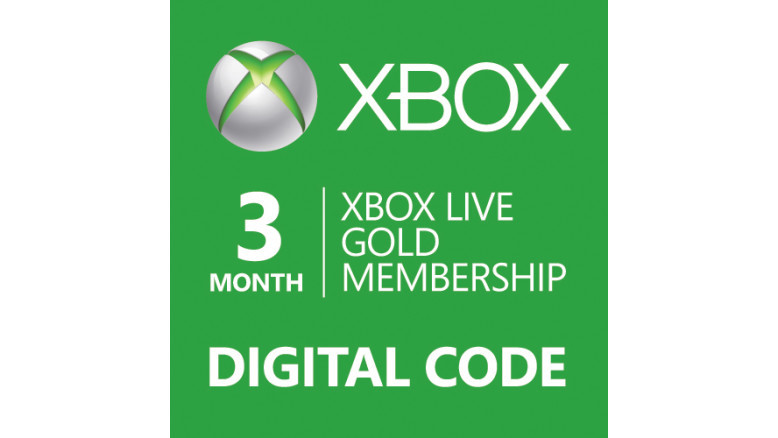 3-Month Microsoft Xbox 360/ONE Live Membership Gold Card
