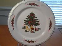 Vitromaster (2), Christmas Tree, Dinner Plates, Stoneware ...