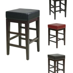 Bar Stool Chair Legs Target Gaming 25h Seat Faux Leather Wood Breakfast Counter