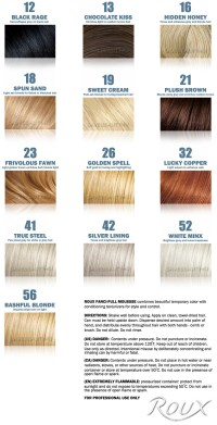 roux fanci full temporary hair color rinse roux hair roux ...