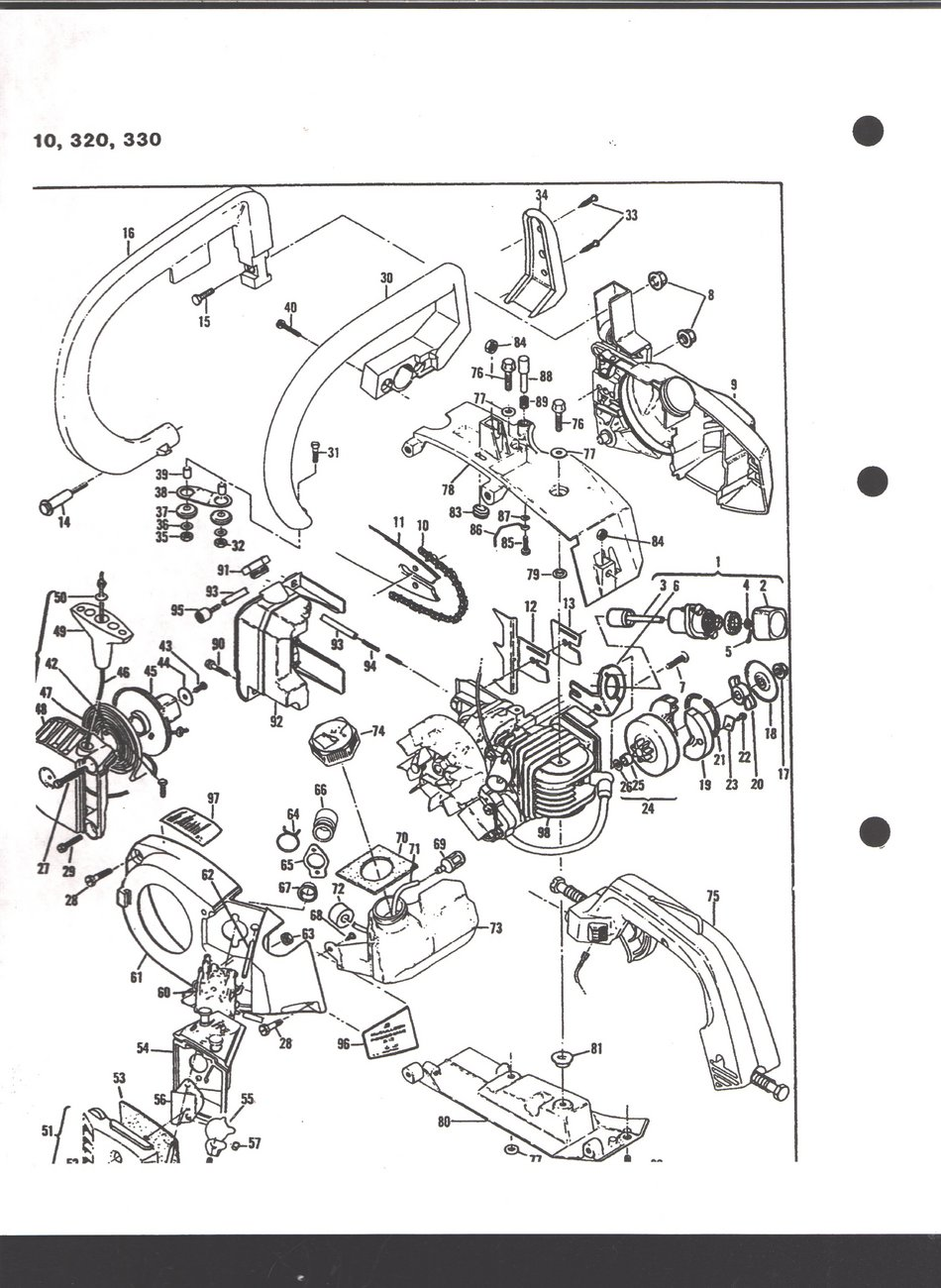Mcculloch Mac 3516 Chainsaw Parts. Diagram. Auto Wiring