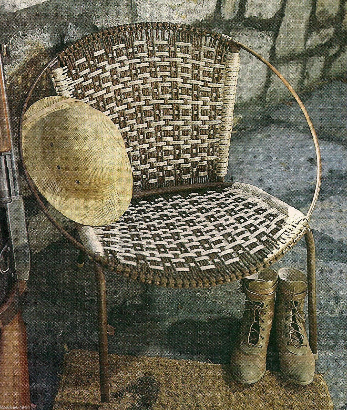 macrame lawn chair reupholster a seat patterns gone fishing geometrics