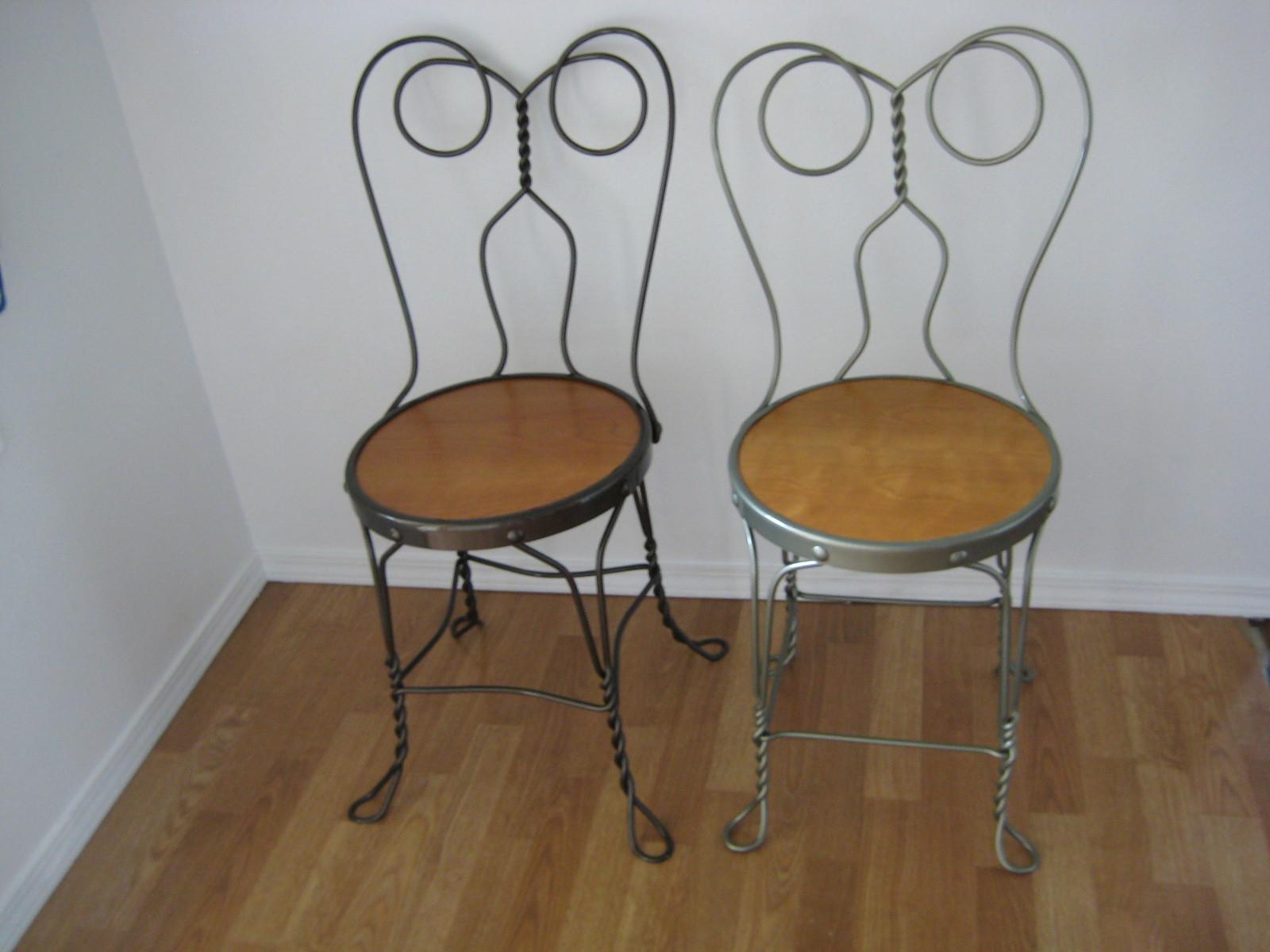 ice cream parlor chairs fuzzy bean bag 1950 39s set of 4 garden