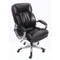 True Innovations Big & Tall High-Back Bonded Leather Chair ...