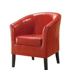 Office Chair Vinyl Convertable Bed Red Modern Retro Deep Seat Wipe Clean