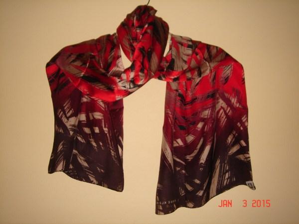 Anne Klein Silk Multicolor Scarf-rectangular Shape