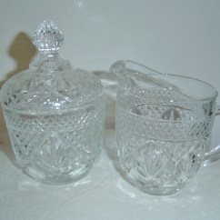 Kitchen Aid Glass Bowl Wholesale Appliances Vintage Eapg Clear Pressed Sugar & Creamer ...
