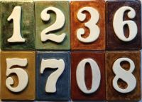 Tile House address / Mailbox Post numbers - handmade ...