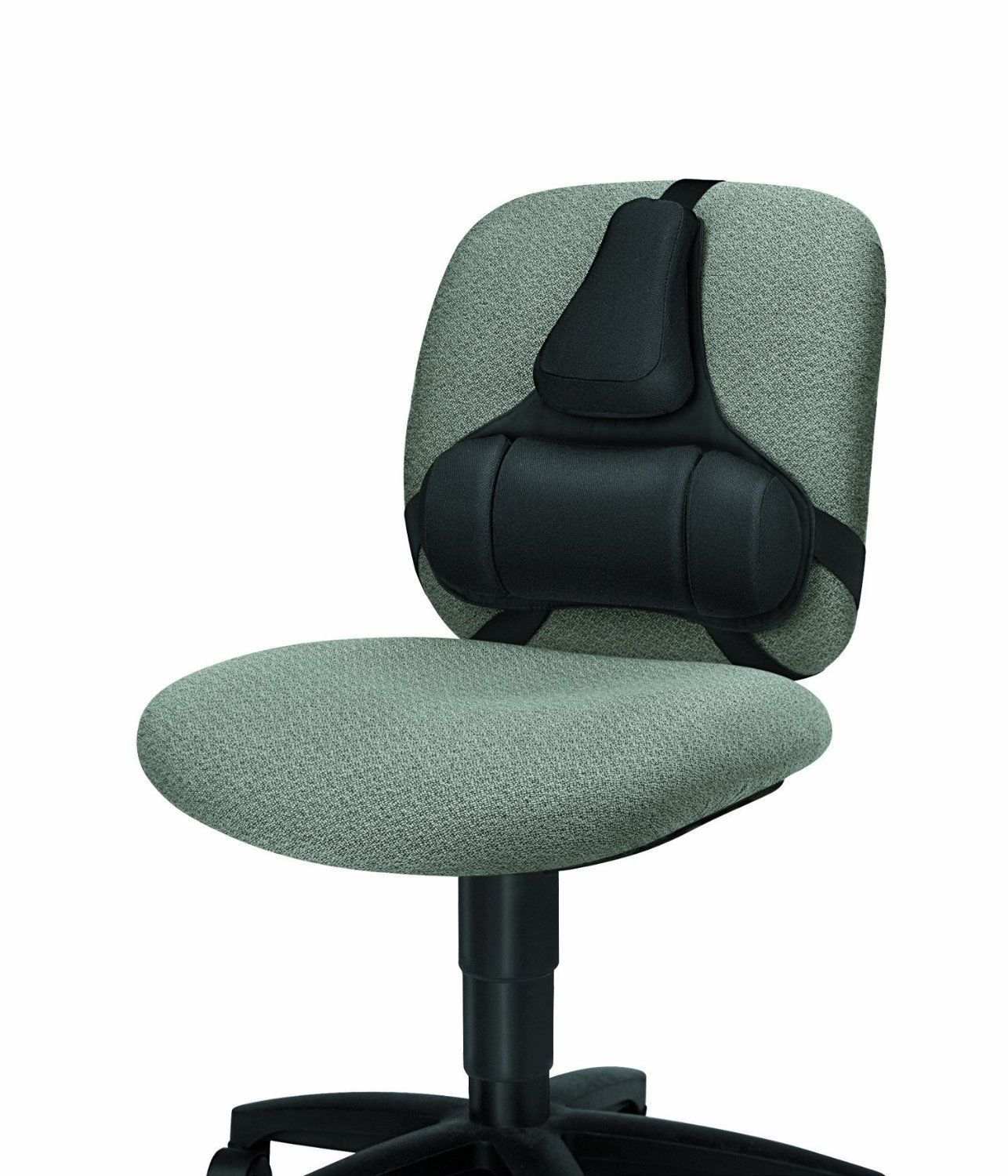 chair lumbar support leather swivel recliner and stool strap on back desk ergonomic office
