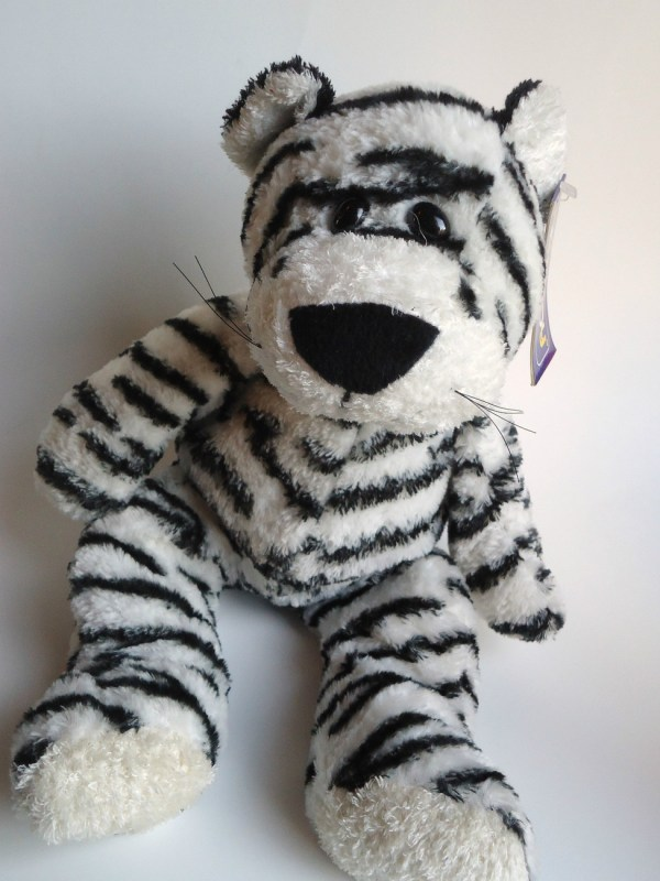 Kellytoy White Tiger Plush Stuffed Animal Toy Jungle Cat