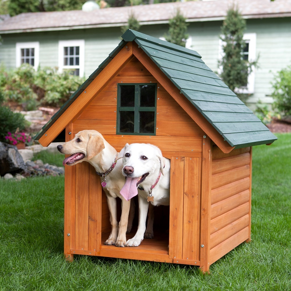 XL Dog House Wood Pet Shelter Deluxe Rustic Wooden AFrame Kennel EXTRA LARGE  Dog Houses