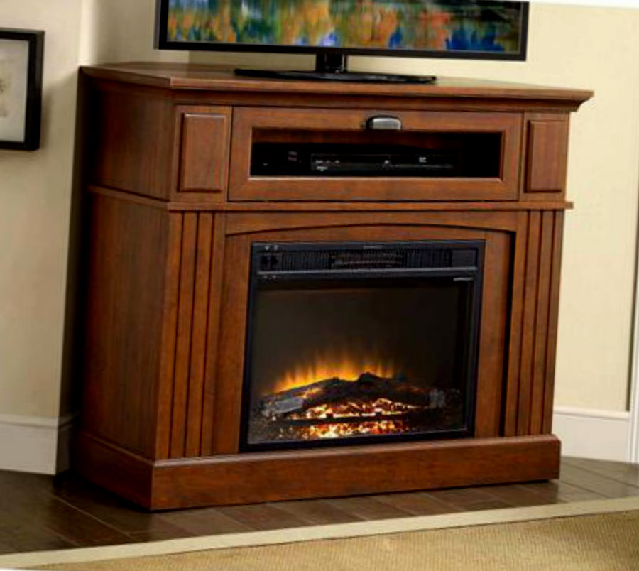 Corner Electric Fireplace With Mantel Corner Electric Fireplace Mantel & Heater Entertainment Tv
