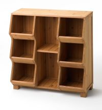 Wood Storage Cabinet Single Tall Stackable Home Shelf Toy ...