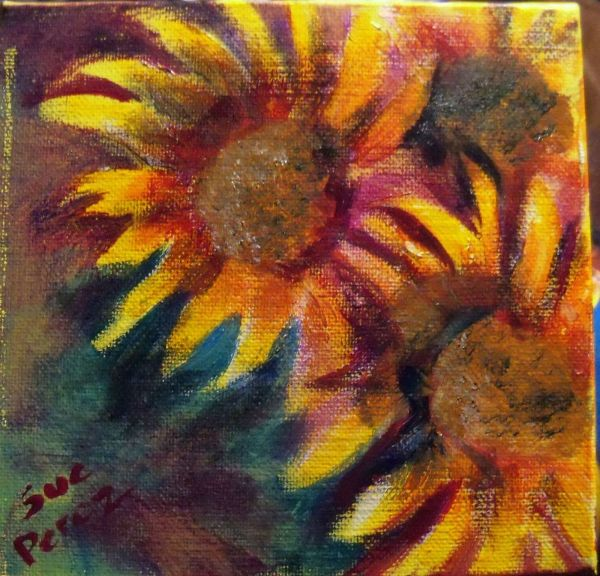 Fall Acrylic Painting Flowers