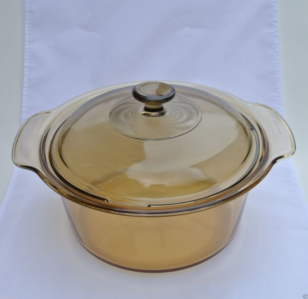 Visions Cookware Pyrex 3.5l Dutch Oven With Lid