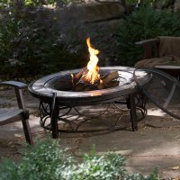 Outdoor Fire Pit Table Backyard Deck Garden Patio ...