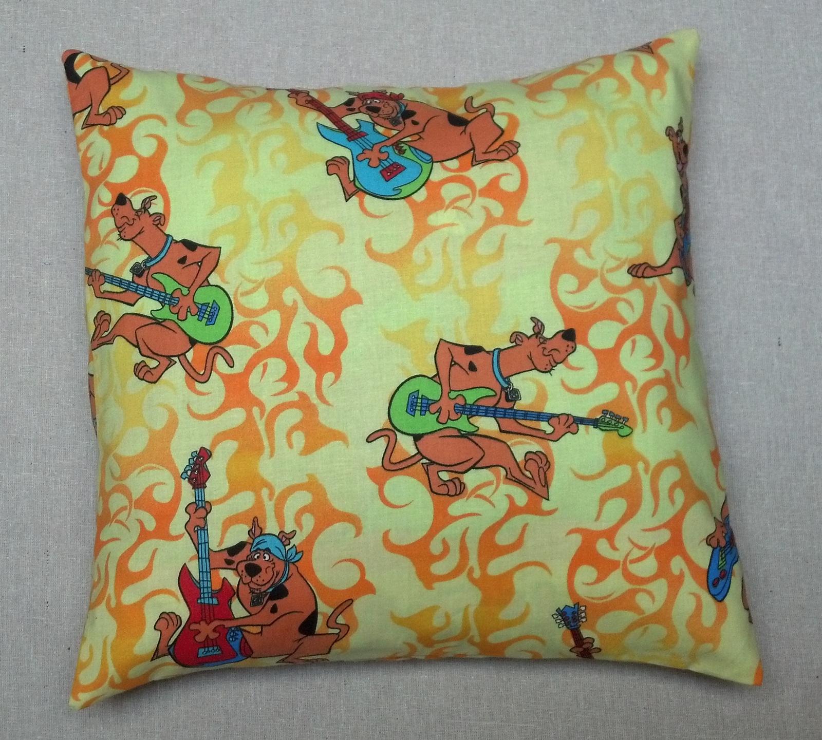 Handmade Scooby Doo Dog Animal Guitar Pillow Case Cover