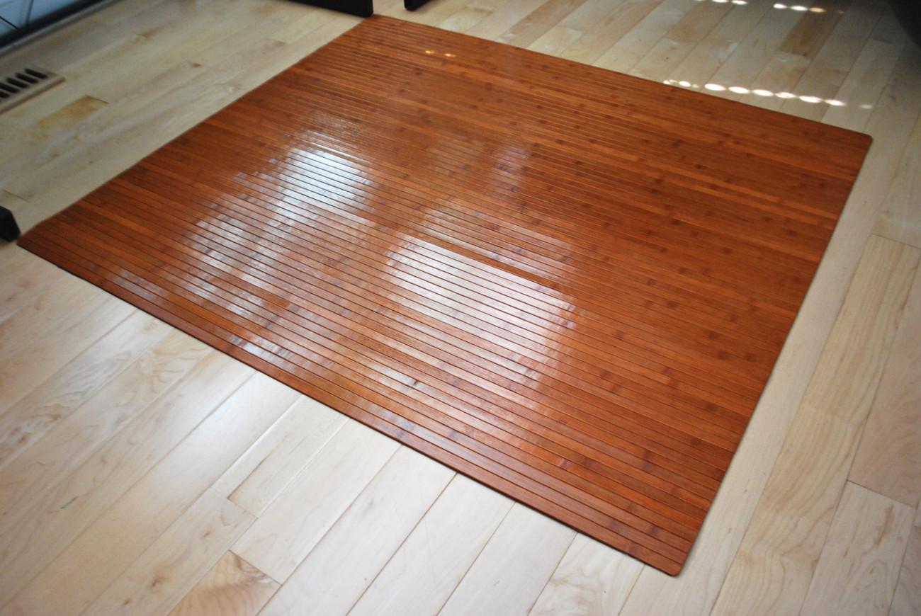 Bamboo Chair Mat Office Floor Mat Wood Floor Protector