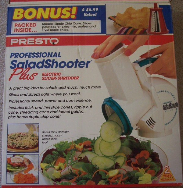 Presto Salad Shooter Professional - Cones Included Nib Food Processors