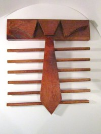 Necktie Rack Wooden Hand Made Vintage 12 Rods Solid Wood ...
