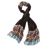 Missoni Target Scarf Womens Blue/Brown/Colore Long Wool ...