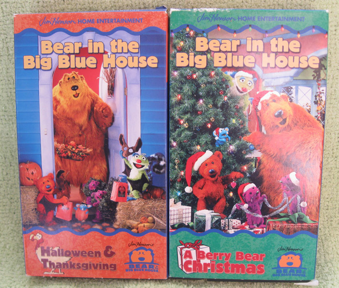the big blue house in a berry bear christmas vhs - Bear In The Big Blue House A Berry Bear Christmas