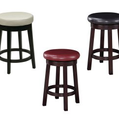 Counter High Chairs Living Room Wingback 24 Inch Seat Round Barstool Faux Leather Wood Stool