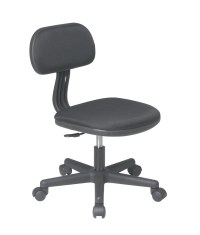 BLACK Fabric Seat & Back Child's Teens Computer Desk Task ...