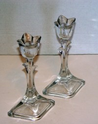 Two Mikasa Crystal Tulip Tapered Candle Holders - Other ...